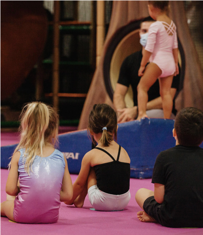 preschool gymnastics students