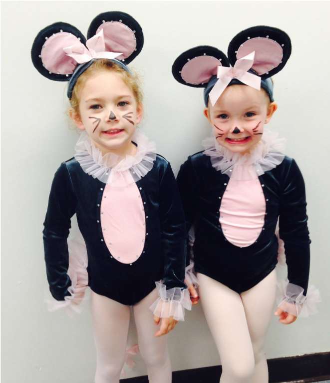 young dancers in mouse costumes