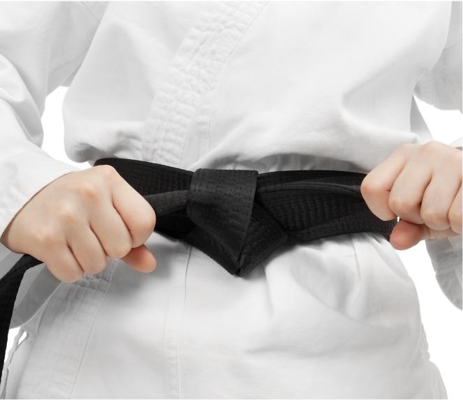 martial arts black belt